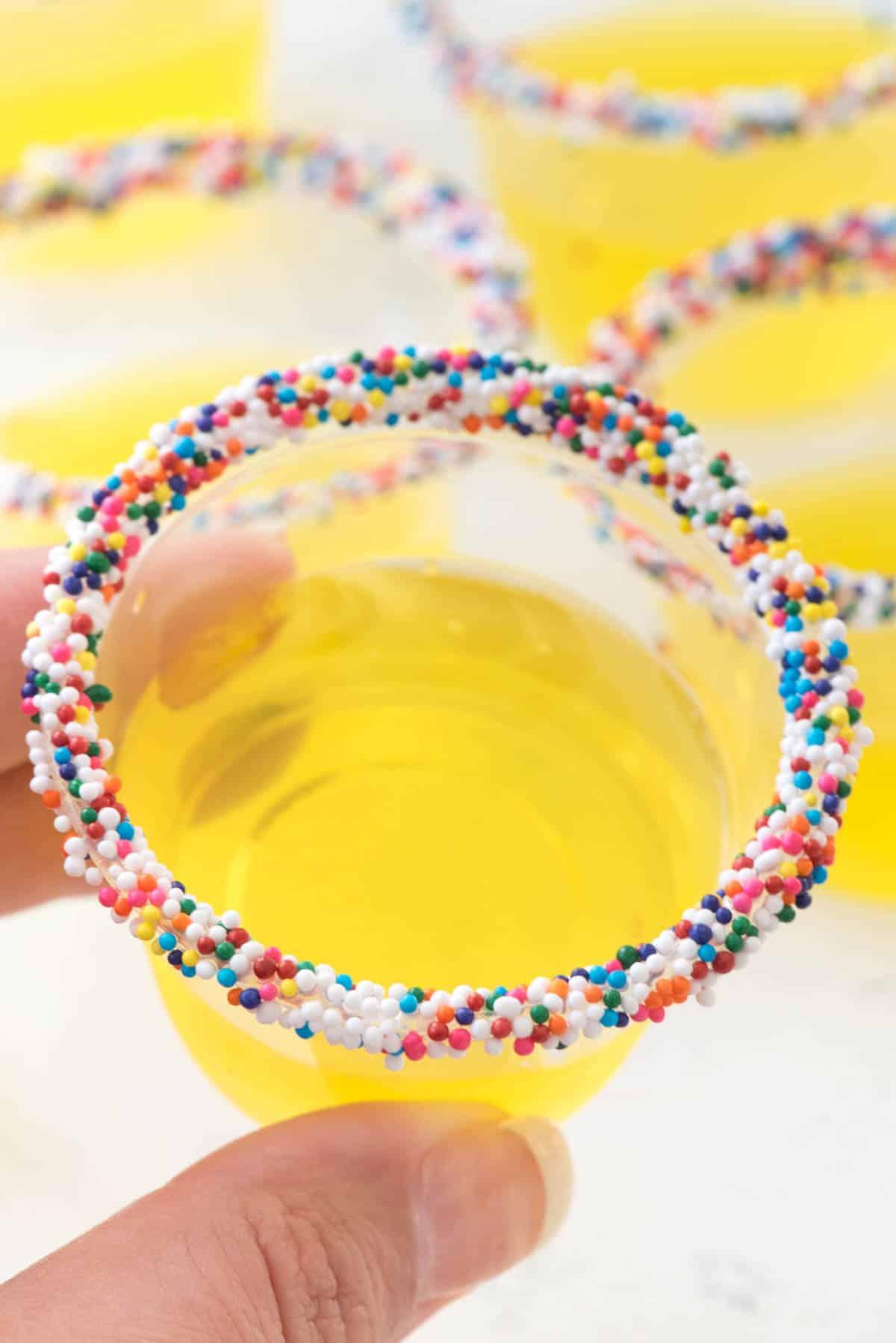 Tremendous Lemon Cake Jello Shots Crazy For Crust Funny Birthday Cards Online Chimdamsfinfo
