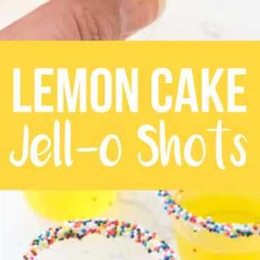 Collage of lemon cake jell-o shots