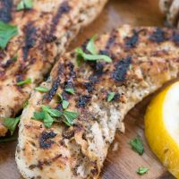 Grilled Lemon Herb Chicken - this delicious and easy chicken marinade recipe is perfect for dinner and is only a 30 minute meal!