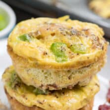 stack of egg muffins