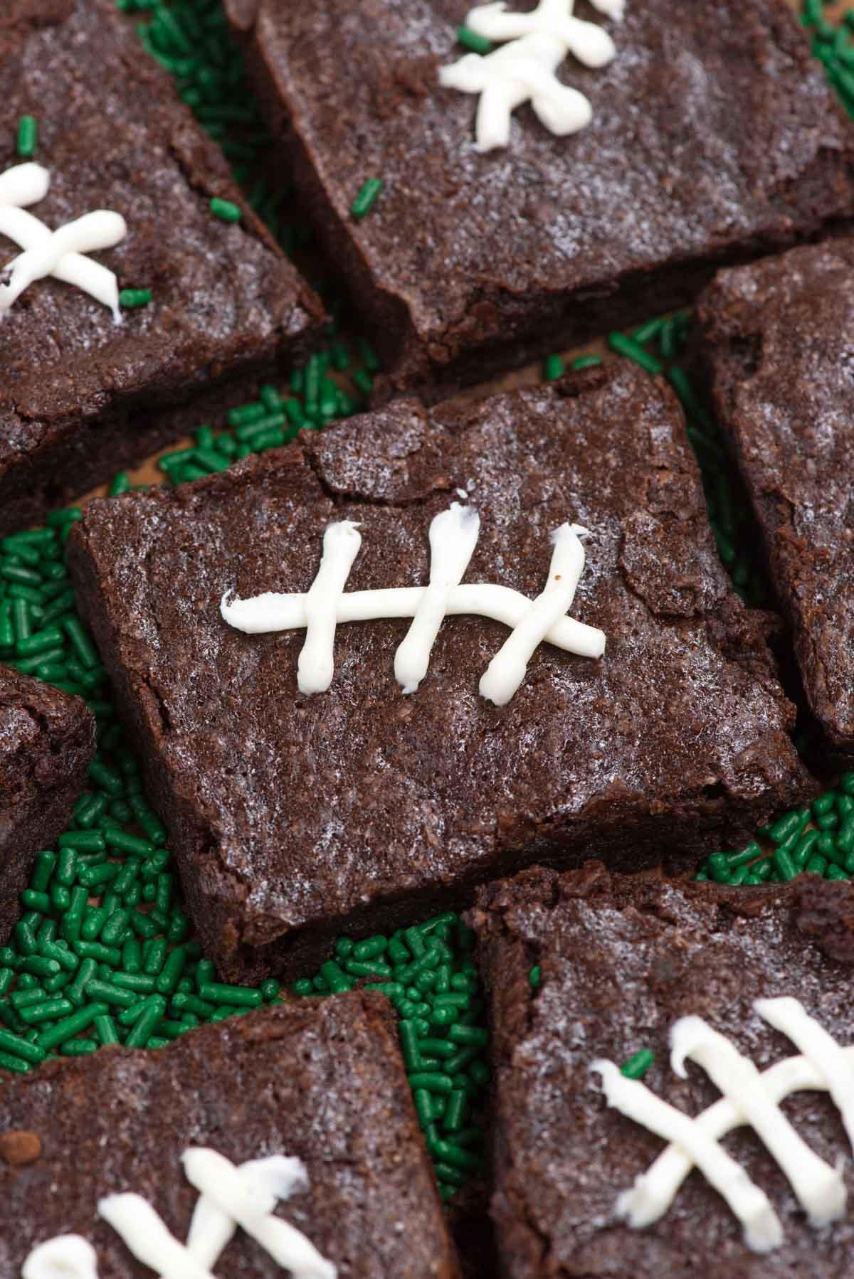 How to Make Football Brownies