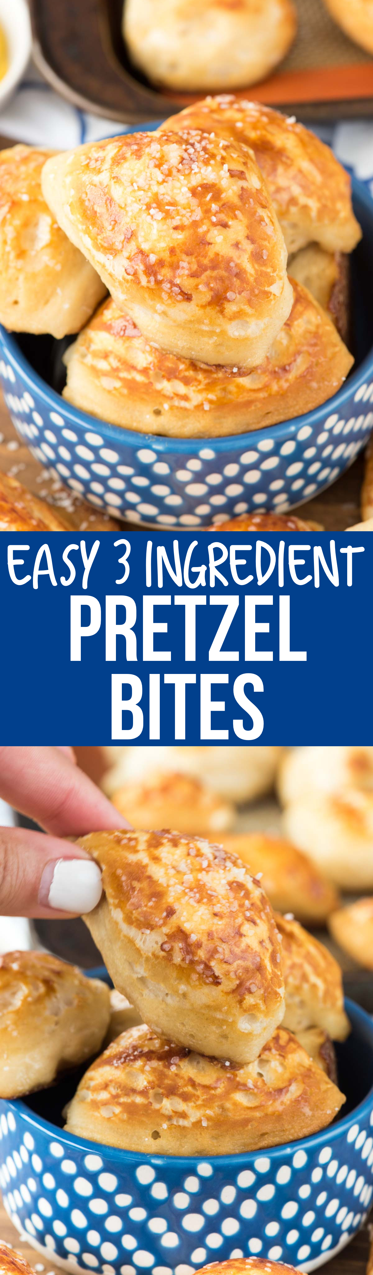 These Easy Soft Pretzel Bites recipe has only 2 basic ingredients and are done in under 30 minutes! They're delicious with salt!