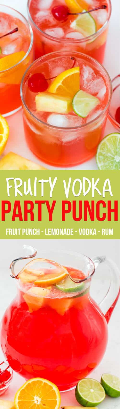 collage of party punch photos