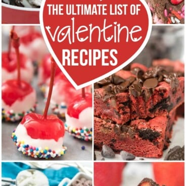 valentine recipe collage