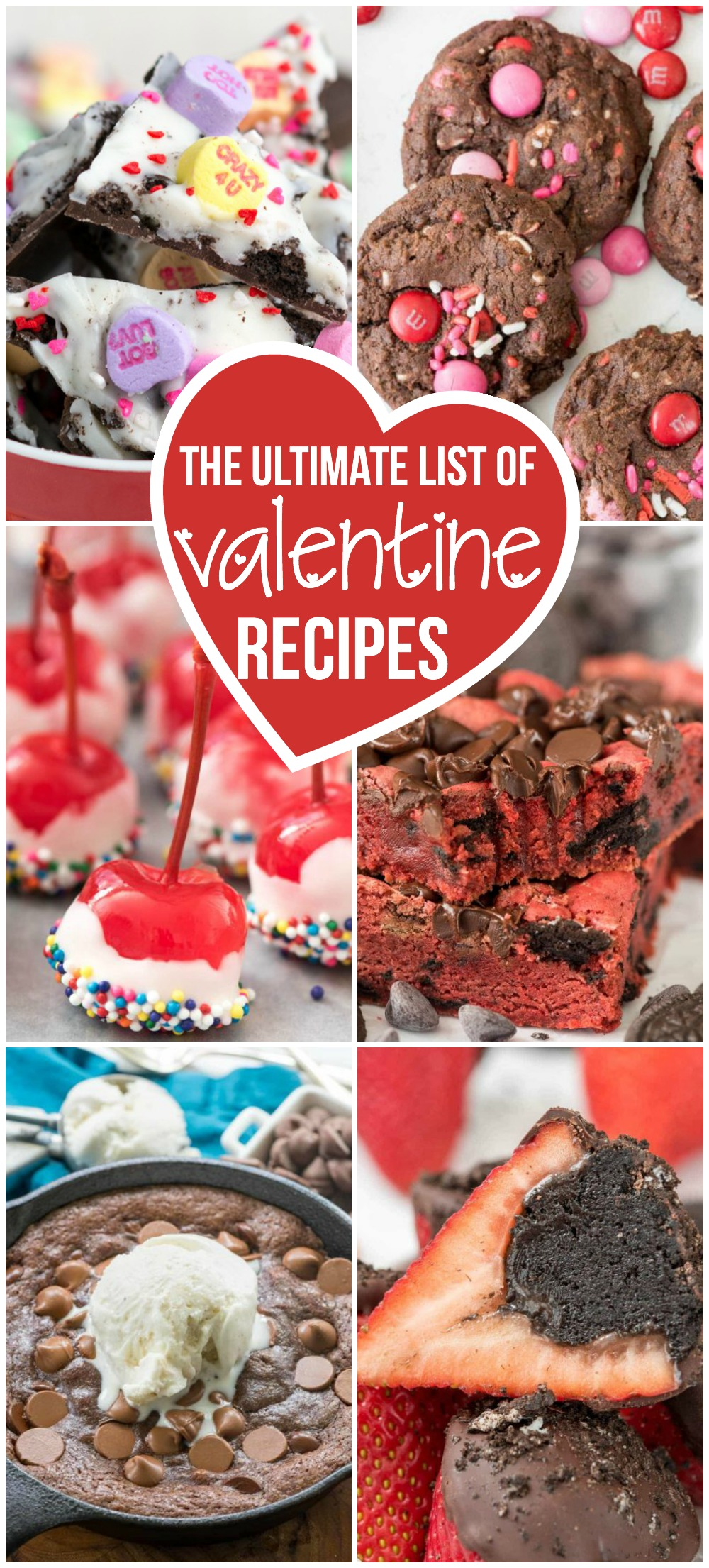 This is the ultimate list of Valentine Recipes!! Champagne, desserts for two, and cute valentine desserts for kids! This list has it all!