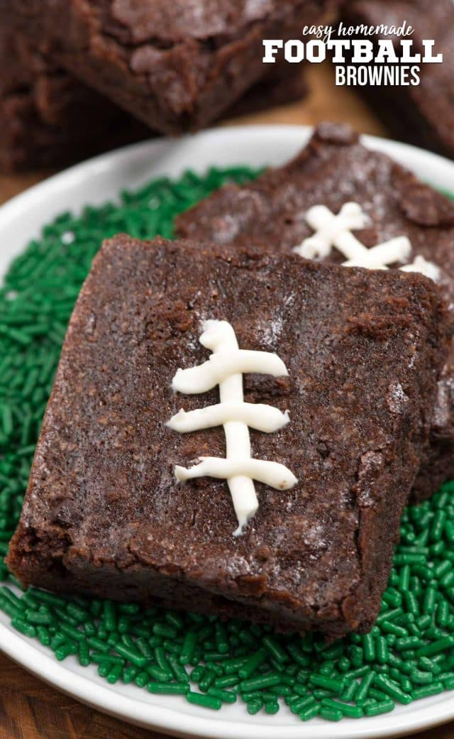 brownie decorated like football