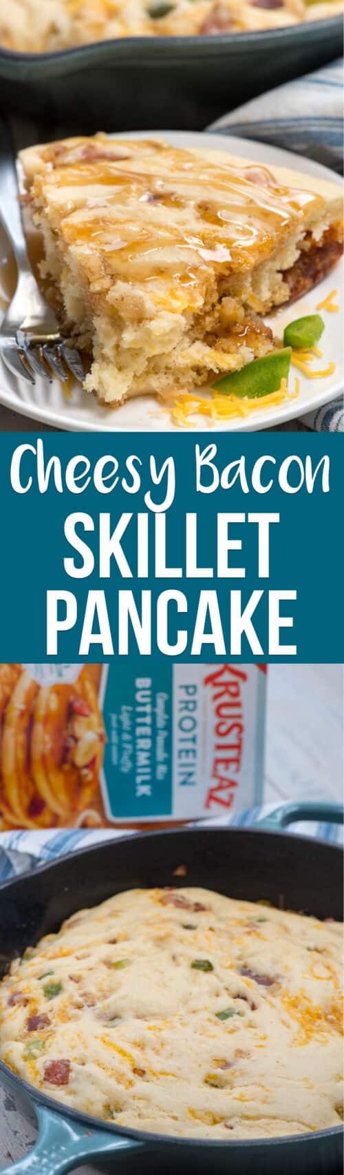 collage of pancake bake photos
