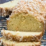 sliced coconut pound cake