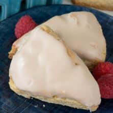 plate of vanilla scones