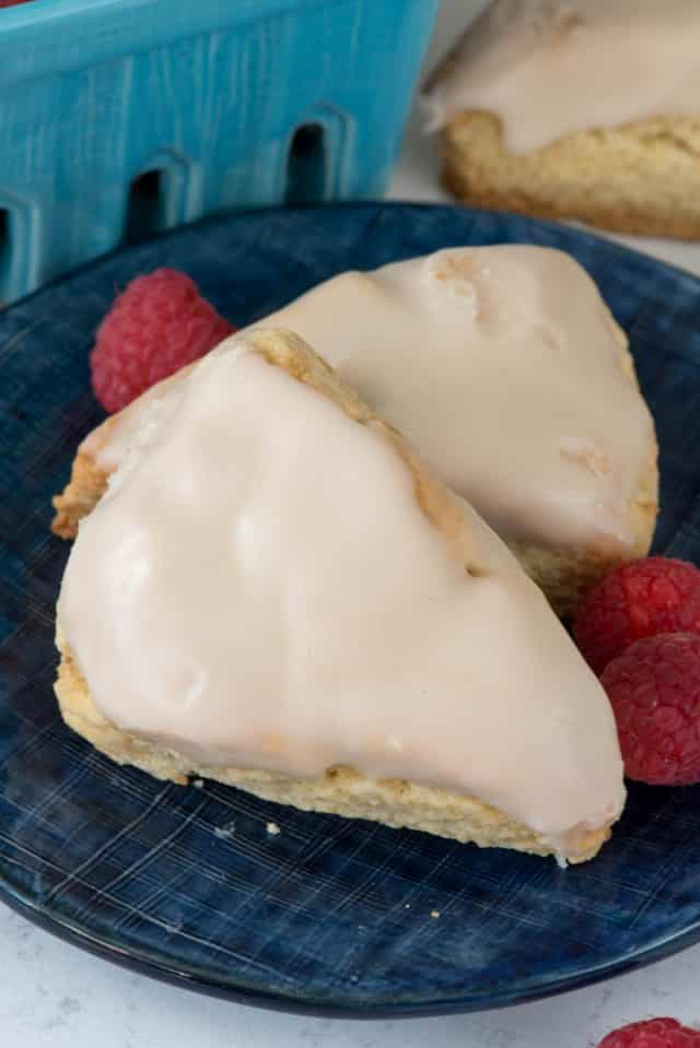plate of vanilla scones