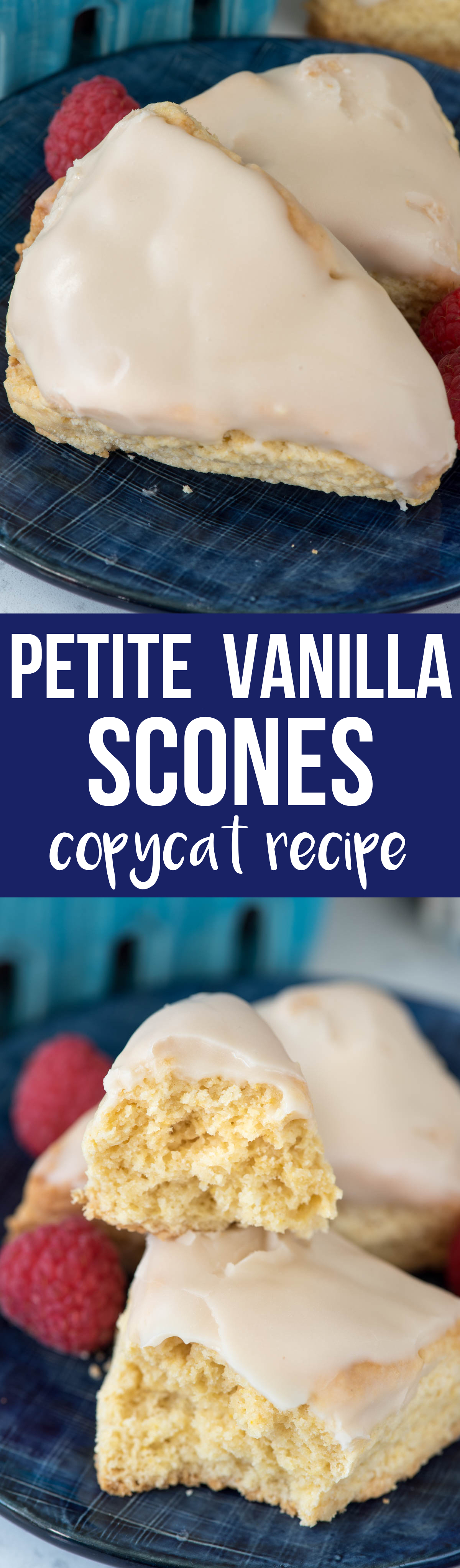 Copycat Petite Vanilla Scones are just like that scone recipe at Starbucks but they're better because they're made at home. This is the best scone recipe because it's made with pudding mix - the scones are pillowy soft and stay soft for days. The flavor of these scones is amazing!