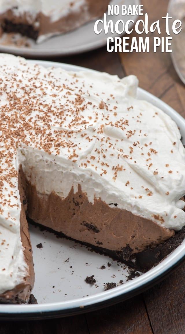 The Best No Bake Chocolate Cream Pie Crazy For Crust