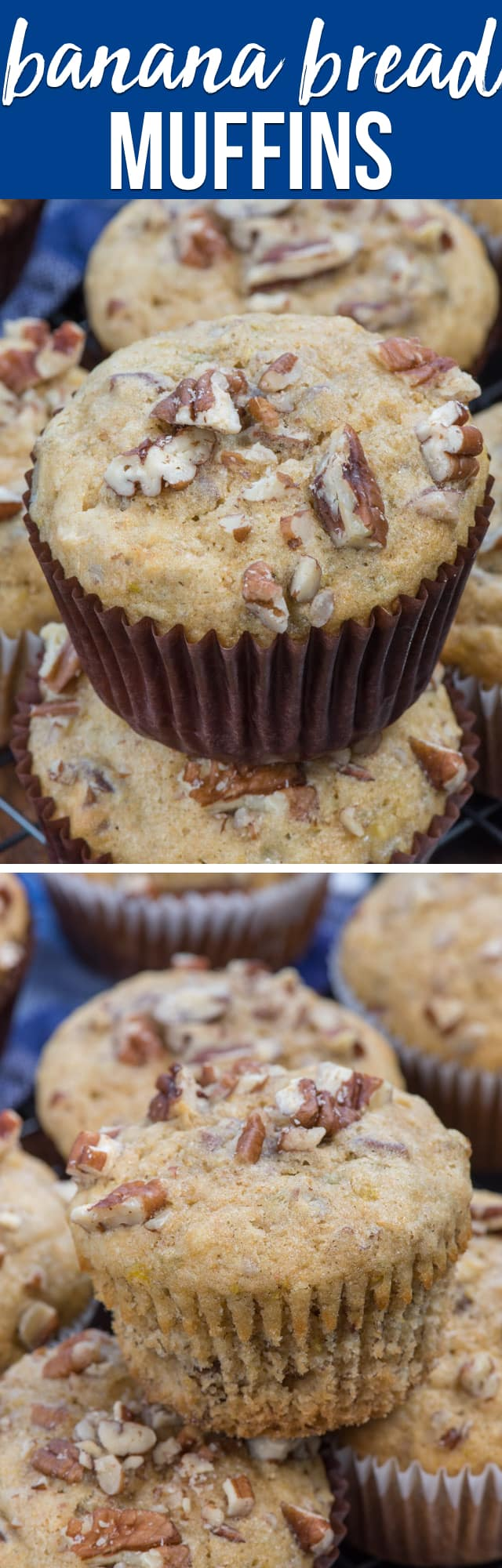 Banana Bread Muffins are so easy to make! This recipe is my favorite banana bread recipe made into banana nut muffins, perfect for breakfast or brunch!