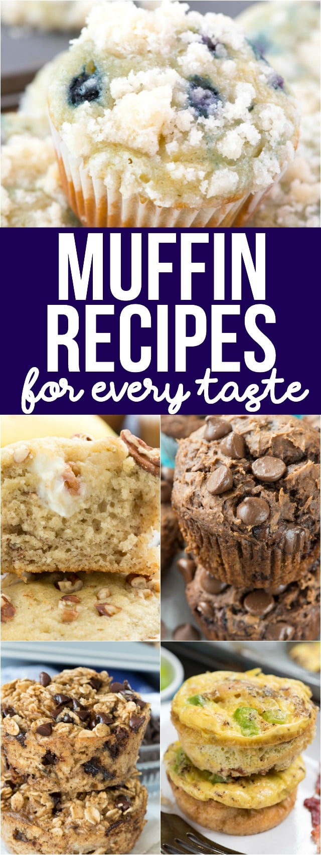 If you love muffins, you've come to the right place. This is a complete list of all the muffin recipes on Crazy for Crust! From blueberry muffins to homemade muffins and all the flavors in-between, you're guaranteed to find a muffin recipe you love on this list.