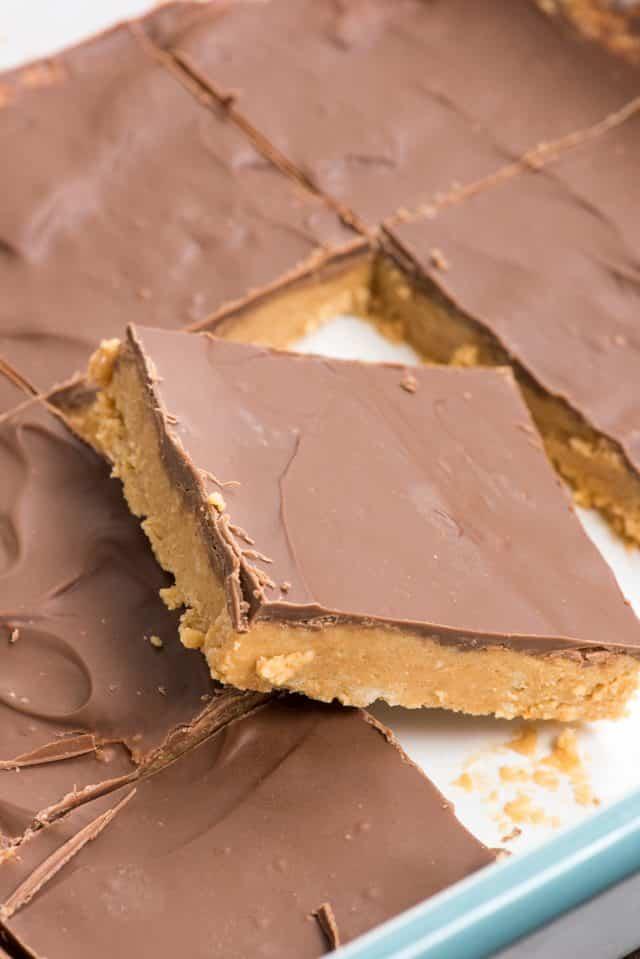 Best no bake peanut butter bars recipe in pan