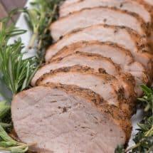 sliced grilled pork loin