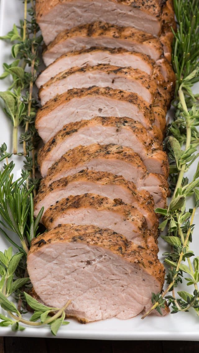 Garlic and Herb Grilled Pork Loin