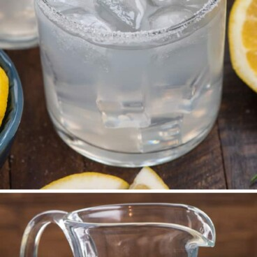 collage of lemonade margarita photos