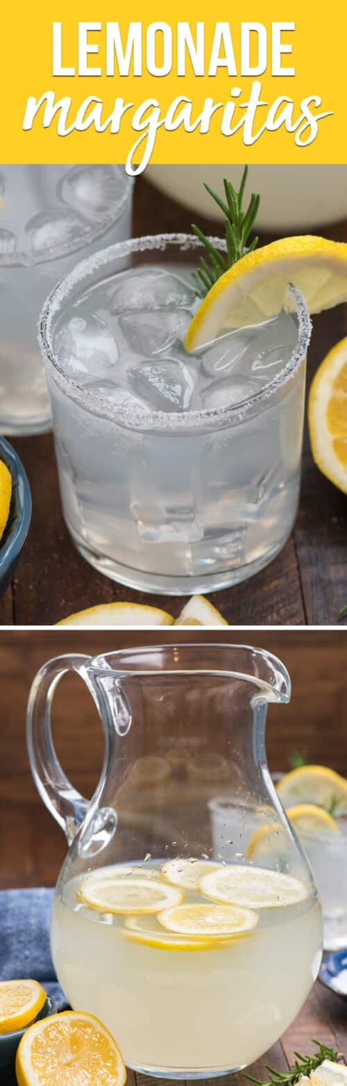 collage of lemonade margarita photos