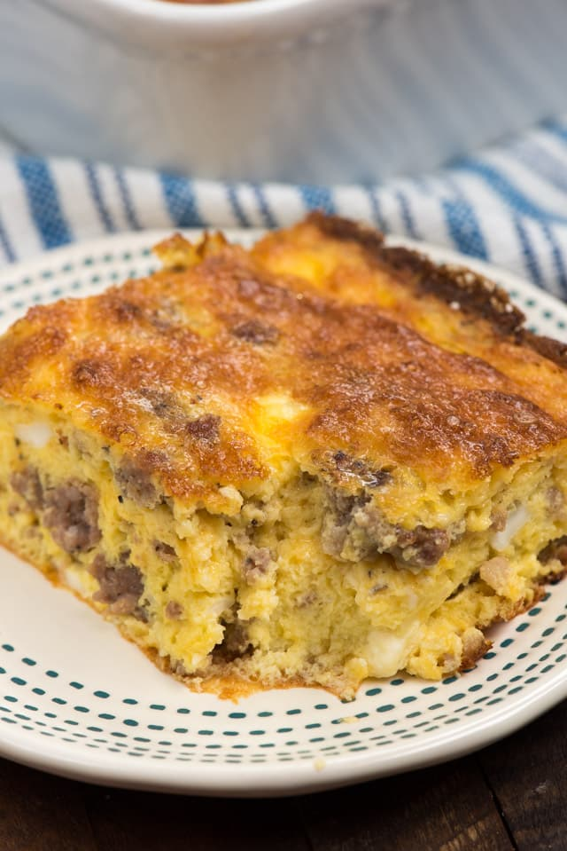 Cheesy Sausage Egg Casserole Crazy For Crust