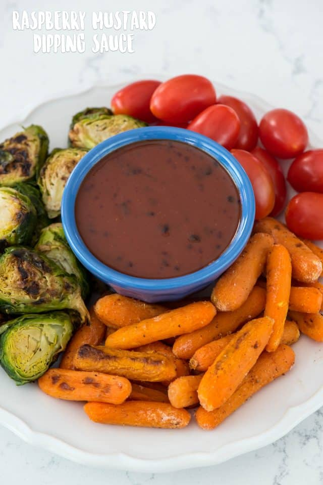 dipping sauce with roasted vegetables