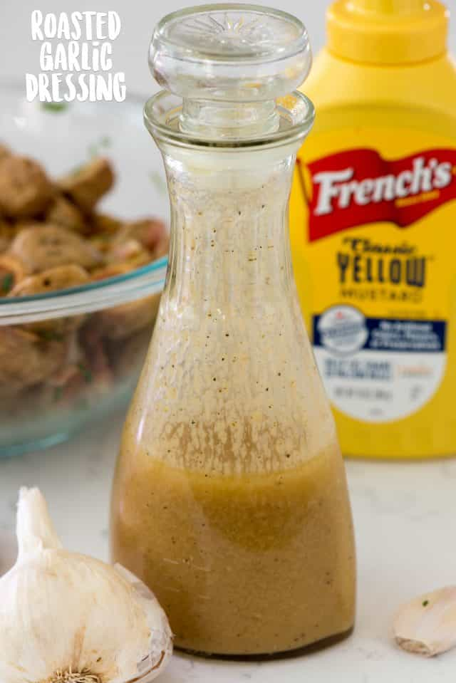 garlic dressing in bottle