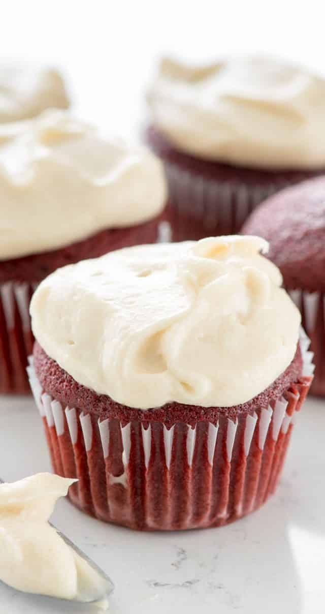 red velvet cupcake photo