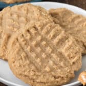 peanut butter cookies on white plate