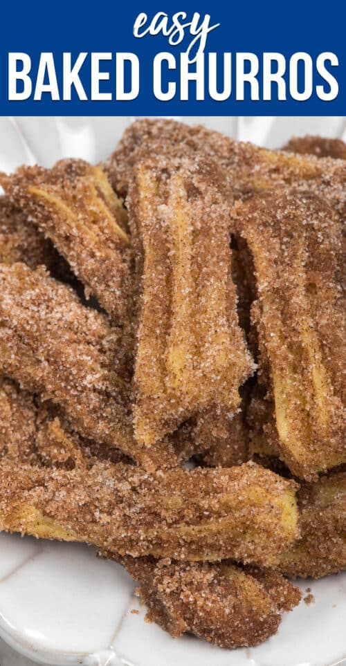plate of baked churros