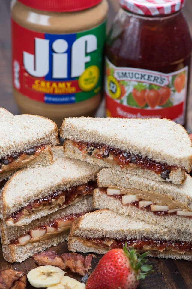 PB&J made with Jif and Smuckers