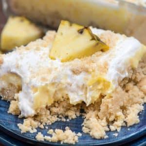 slice of pineapple dream dessert