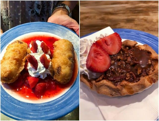 Collage of food from Toby Keith's in Las Vegas