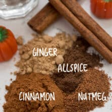 overhead shot of pumpkin pie spice ingredients
