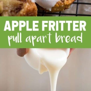 collage of apple fritter bread photos