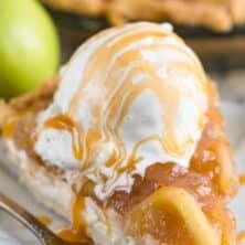 slice of cheesecake apple pie