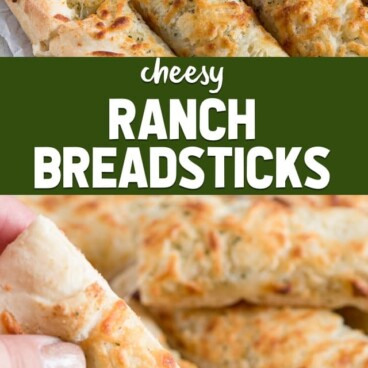 cheese ranch breadstick collage photo