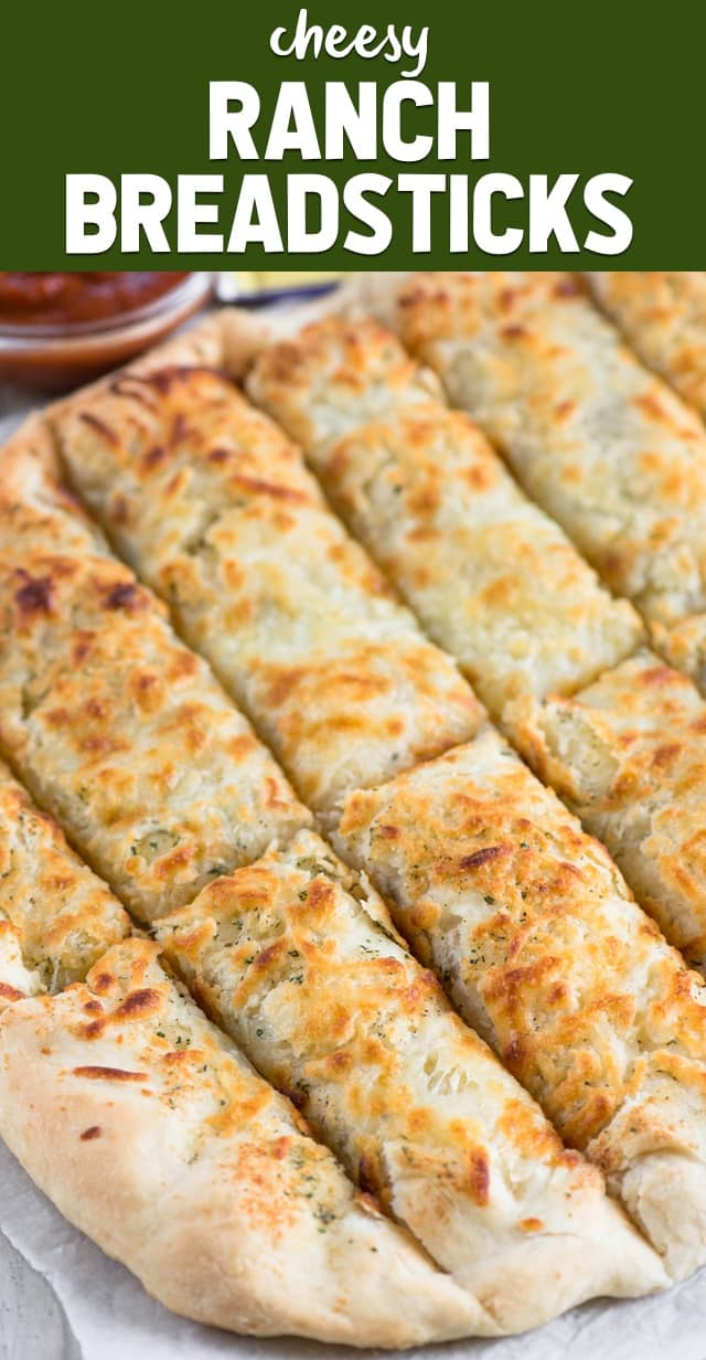 Cheesy Ranch Breadsticks are perfect with any meal. These breadsticks are homemade and full of ranch flavor. We all loved these easy breadsticks!