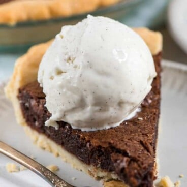 Chocolate Fudge Pie Recipe is perfect with ice cream!