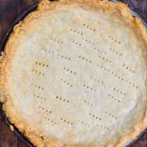 overhead of pie crust