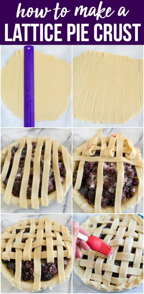 how to make a lattice pie crust collage