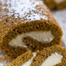 pumpkin roll sliced