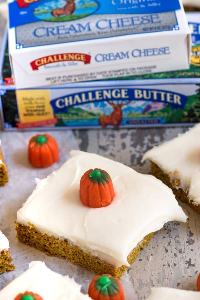 pumpkin bars with challenge dairy