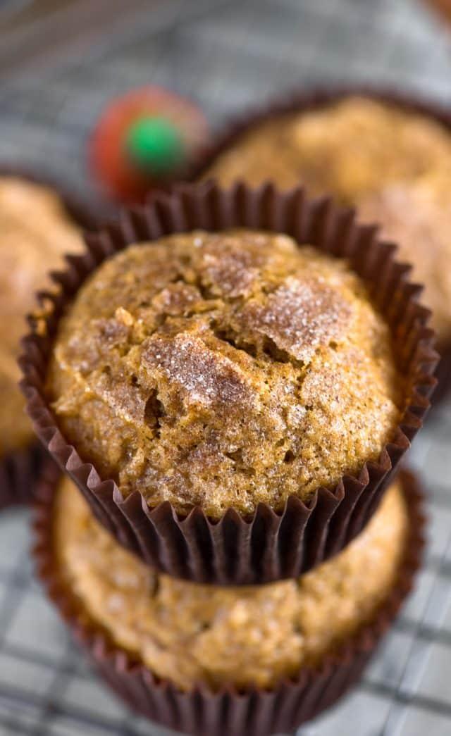 pumpkin muffins stack