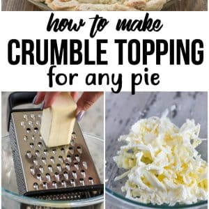 collage of how to make crumble topping photos