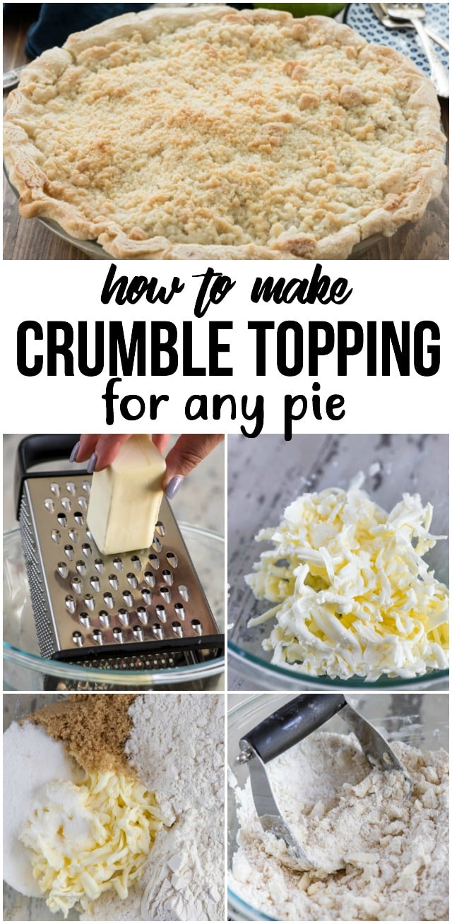 This recipe for crumble topping is the perfect crumble for any pie recipe. You can even make it for muffins or coffee cake!