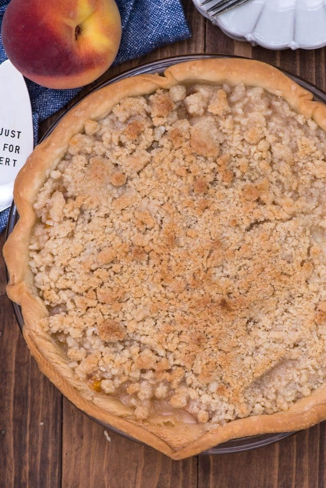 Crumble topped Peach Pie Recipe