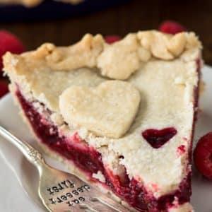 slice of raspberry pie