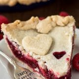 slice of raspberry pie