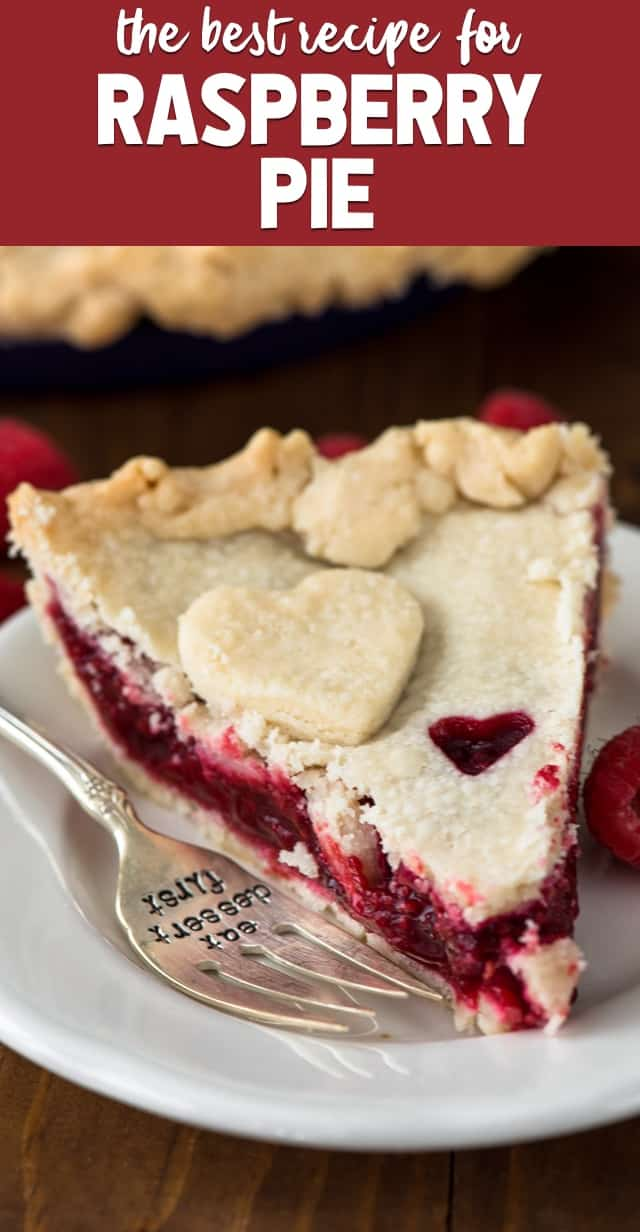 Raspberry Pie is an easy berry pie recipe! Make this pie with a double crust, lattice, or even a crumble topping! It's such an easy pie recipe.