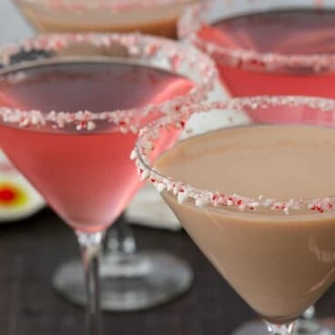 candy cane martinis with words